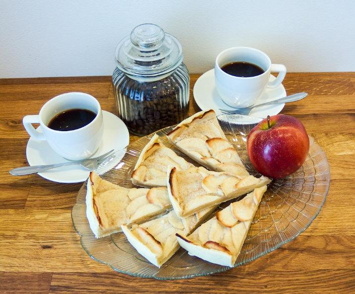 jablečný koláč sklo