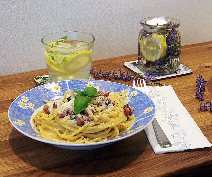 lucerna špagety carbonara